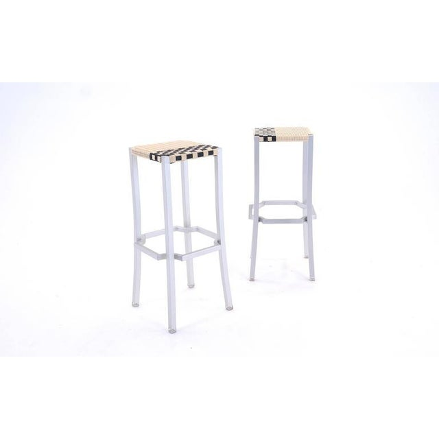 Silver Philippe Starck One Cafe Indoor or Outdoor Bar Stools for Driade, Italy For Sale - Image 8 of 8