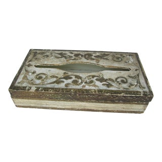 Vintage Florentine Tissue Box For Sale