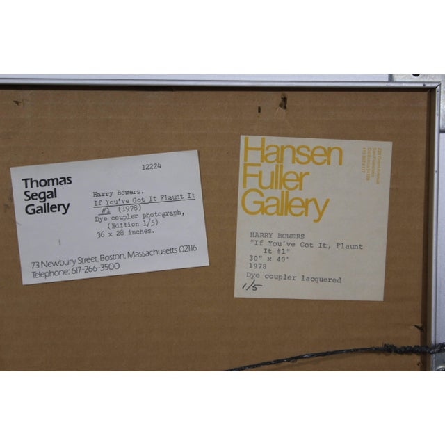Red Harry Bowers Ten Photographs Suite #1 Dated 1978 Numbered 1 of 5 For Sale - Image 8 of 9