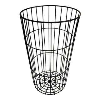 Tall/Large Vintage Industrial Metal Wire Basket | Laundry Basket | Equipment Corral | Modern Plant Stand | Rustic Farmhouse Versatile Décor For Sale