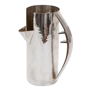 Gio Ponti Silver Pitcher for Cleto Munari For Sale
