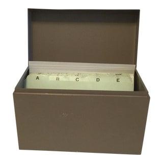Mid-Century Desktop File Box