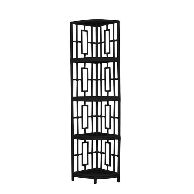 David Francis Trinity Corner Etagere - Black For Sale - Image 4 of 4