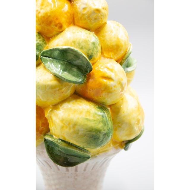 Ceramic Vintage Italian Majolica Lemon Topiary For Sale - Image 7 of 8