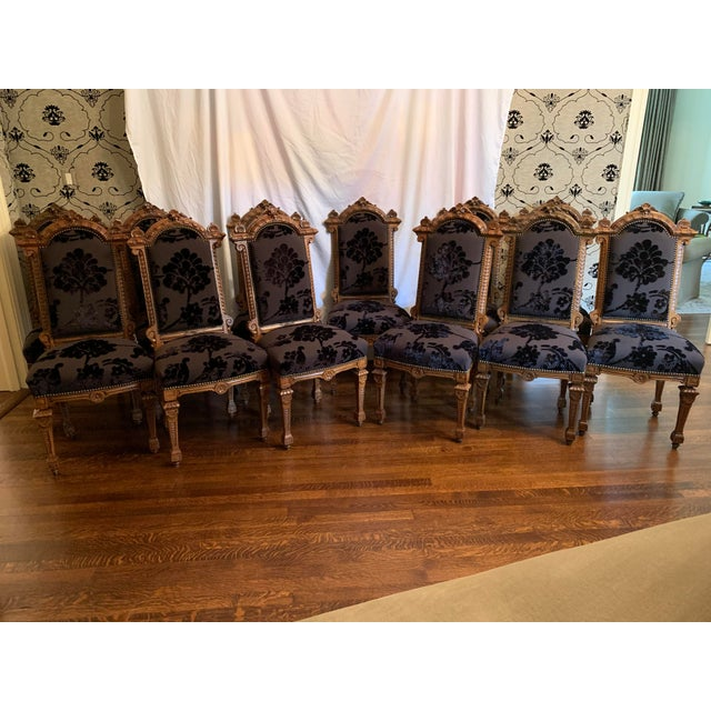 Renaissance Revival Dining Chairs Set of 12 For Sale - Image 12 of 13