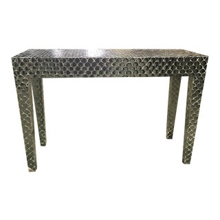Scalloped Mirror Console Table For Sale