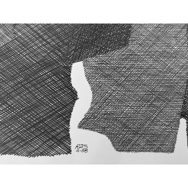 Pen & Ink Abstract Drawing by Roger Stokes - Image 5 of 5