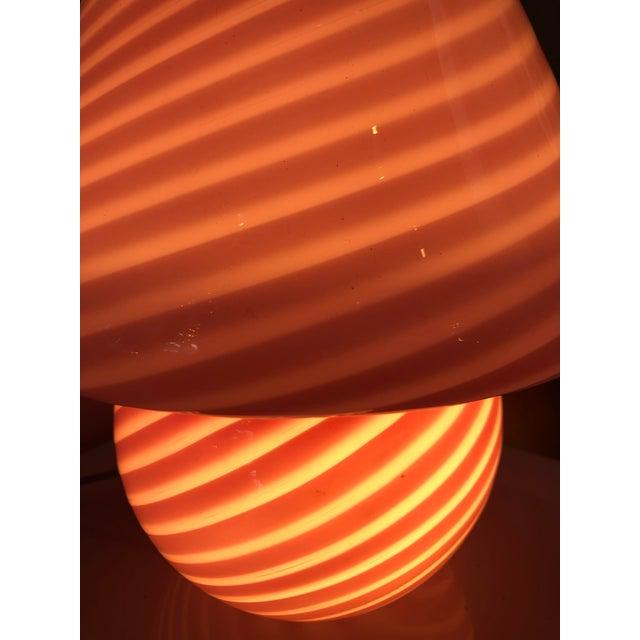 Venice & Murano Co. 1970s Vetri Venini Murano Glass Mushroom Lamp For Sale - Image 4 of 13