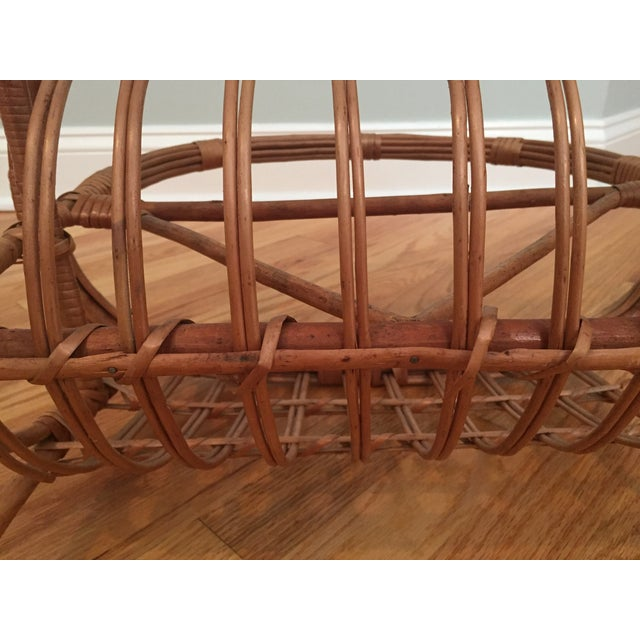 Brown Vintage Bamboo & Rattan Magazine Holder For Sale - Image 8 of 8