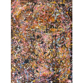 Original Abstract Acrylic Painting on Canvas For Sale