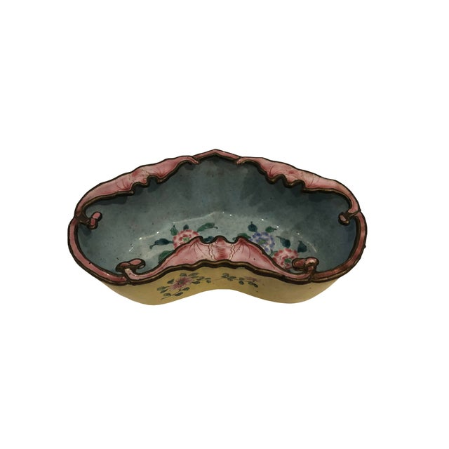 Late 19th Century Chinese Enamel Catchall Dish For Sale In Tampa - Image 6 of 8