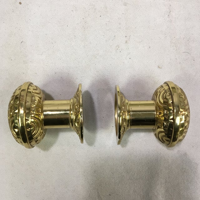 This is a pair of reproduction doorknobs inspired by the Eastlake Victorian designs of the later 19th century and early...