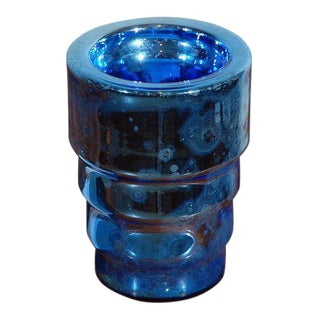 Deco Mercury Glass Vase For Sale