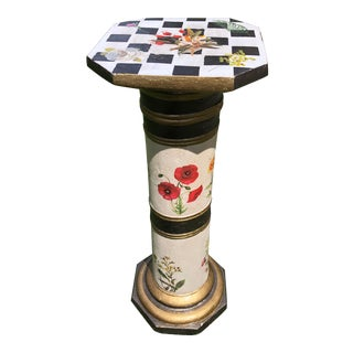 Mackenzie-Childs Style Tuscan Garden Pedestal For Sale
