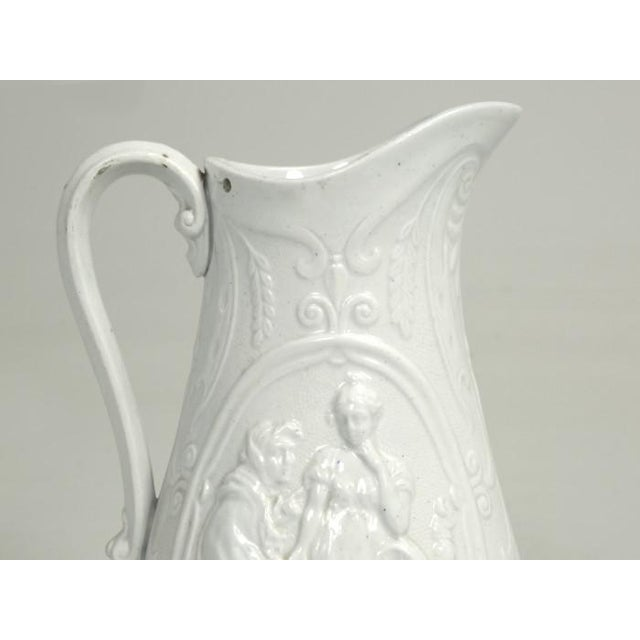 """English Staffordshire Pitcher """"Old Mother Hubbard"""" For Sale - Image 9 of 11"""