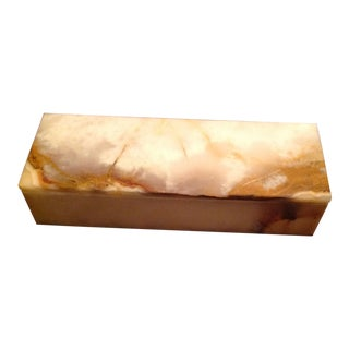 Onyx Decorative Box For Sale