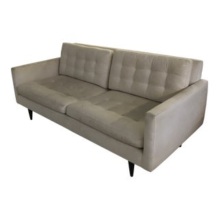 Modern Crate & Barrel Petrie Apartment Sofa For Sale