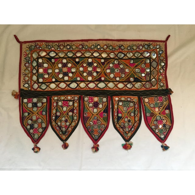 Indian Embroidered Mirror Valance For Sale - Image 7 of 10