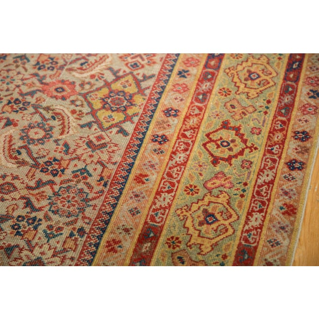 "1910s Antique Distressed Malayer Rug Runner - 6'5"" X 12'8"" For Sale - Image 5 of 13"