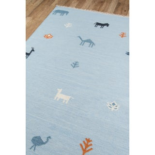 "Erin Gates by Momeni Thompson Porter Blue Hand Woven Wool Area Rug - 5' X 7'6"" Preview"