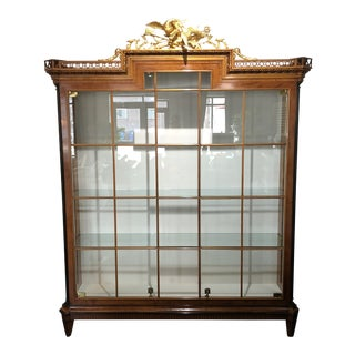 1990s Biedermeier Columbo Mobili Display Case Vitrine For Sale