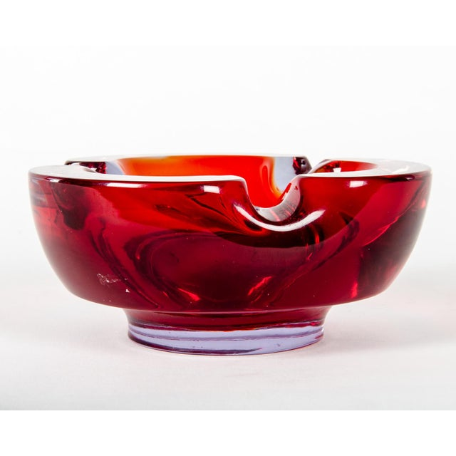 Vintage Glass Ash Tray. Excellent Condition. The Ash Tray Measures 6.5 inches Diameter X 3 inches High.