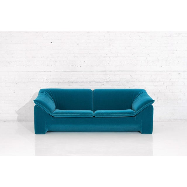 "Niels Eilersen ""Arizona"" Sofa by Jens Juul Eilersen Teal Mohair, 1970 For Sale - Image 9 of 9"