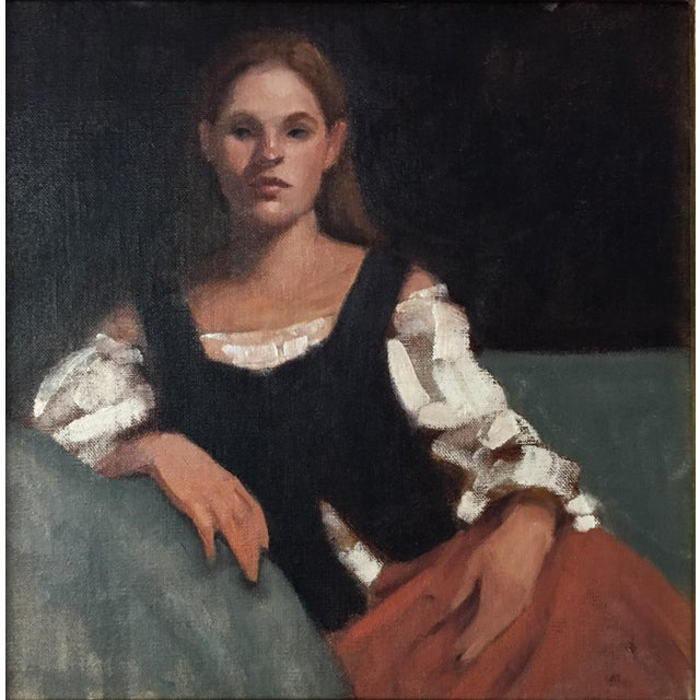 Portrait of a Young Woman Oil Painting - Image 3 of 5