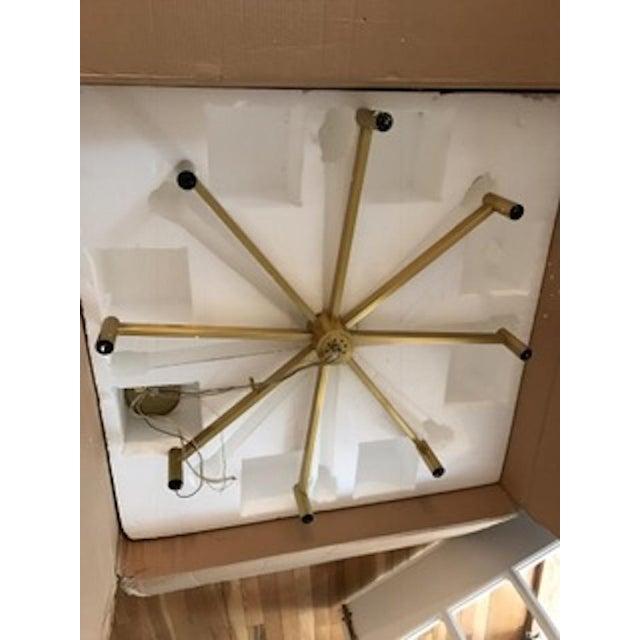 Robert Abbey Round Antique Brass Chandelier - Image 2 of 4