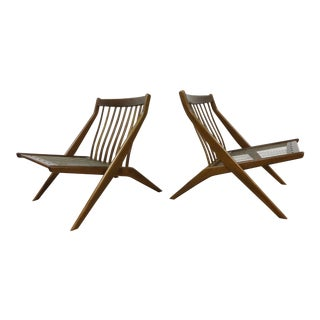 Folke Ohlsson for Dux Scissor Chairs - A Pair