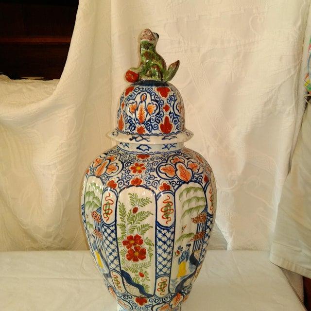 Delft Lidded Ginger Jar For Sale - Image 4 of 12