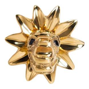 Addison Weeks Mayan Snake Knob - Polished Brass For Sale
