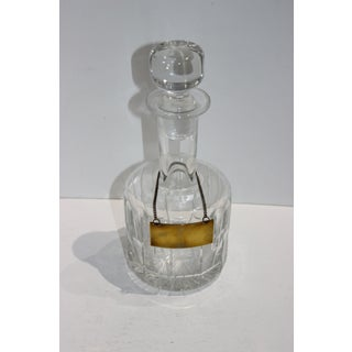 Italian Cut Crystal Decanter With Brass Label to Engrave Preview
