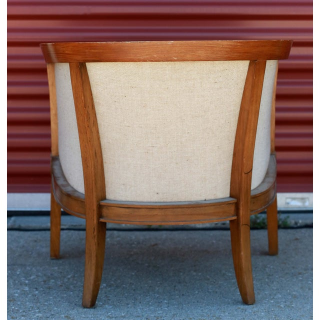 1930s Art Deco Barrel Back Club Chair For Sale - Image 4 of 7