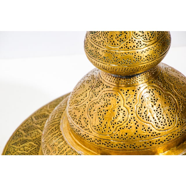 19th Century Antique Syrian Brass Dining Table Base For Sale In Los Angeles - Image 6 of 13