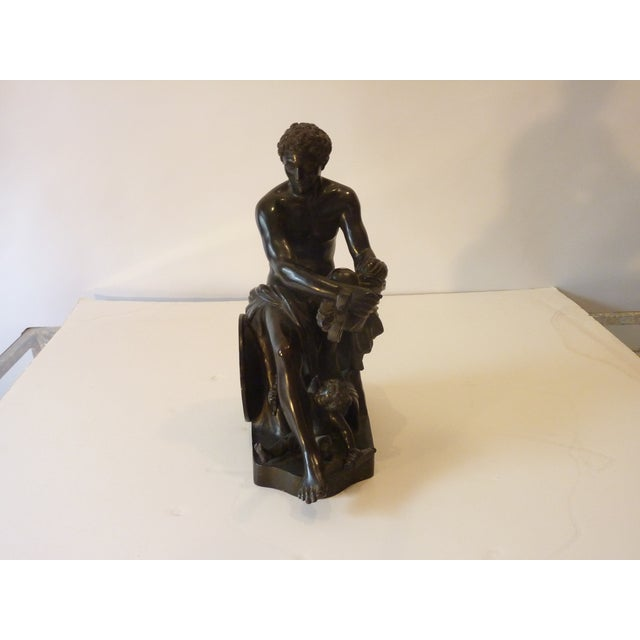 Neoclassical Late 20th Century Neoclassical Inspired Bronze Figure For Sale - Image 3 of 5