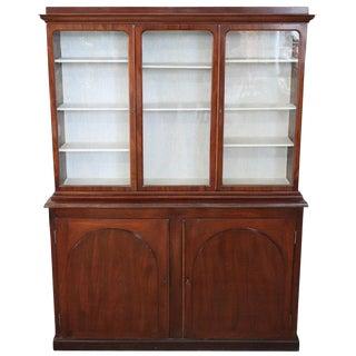 19th Century English Mahogany Antique Bookcase or Vitrine For Sale