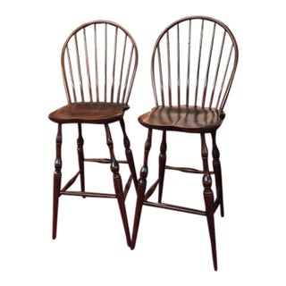 Vintage Nichols and Stone Bar Stools - a Pair For Sale