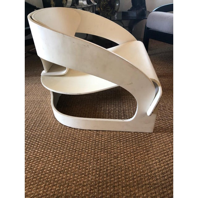 """Wood Original Vintage Joe Colombo """"4801"""" Armchair, Made in Italy by Kartell For Sale - Image 7 of 9"""