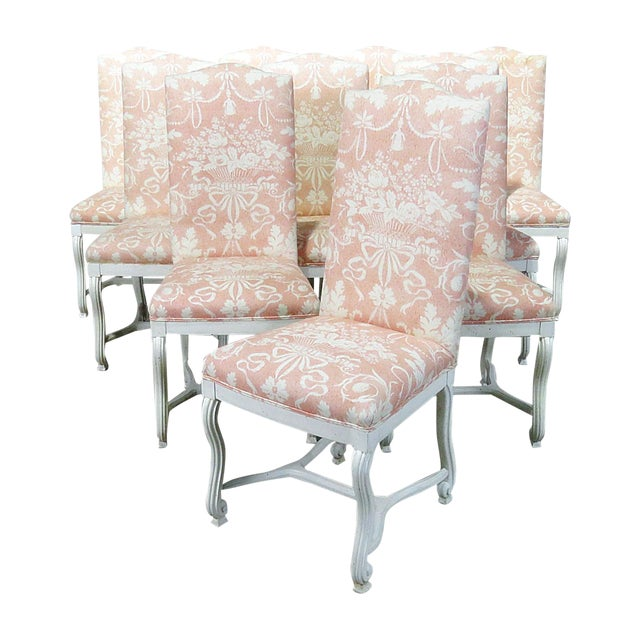 Louis XV Style Dining / Side Chairs - Set of 10 For Sale