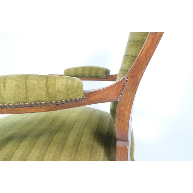 Wood 1890's French Rococo-Style Armchair For Sale - Image 7 of 13