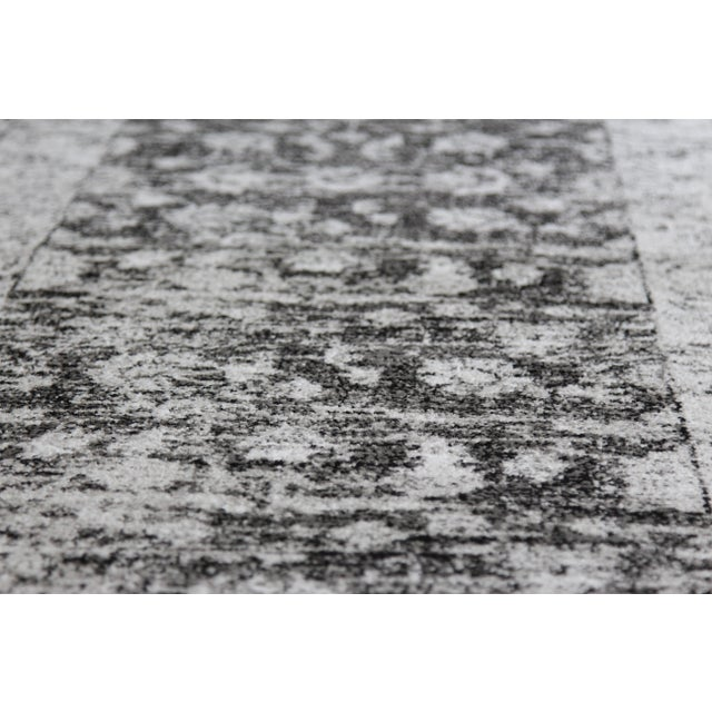 "Distressed Vintage Gray Rug - 2'8"" x 5' - Image 7 of 7"