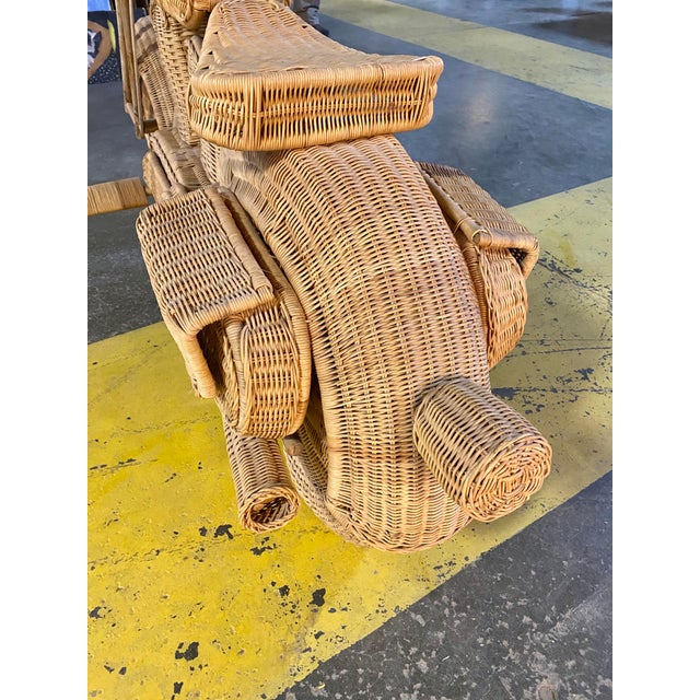 1970s Handmade Life-Size Wicker Motorcycle For Sale - Image 4 of 10