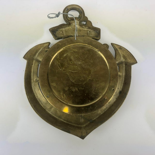 Vintage Brass Anchor Wall Clock For Sale - Image 10 of 11