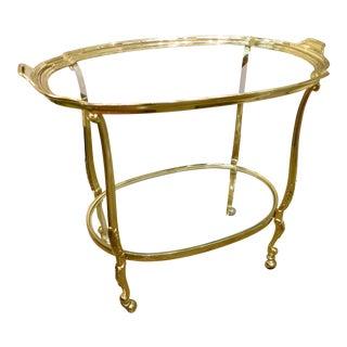 Two Tier Brass Tea Cart