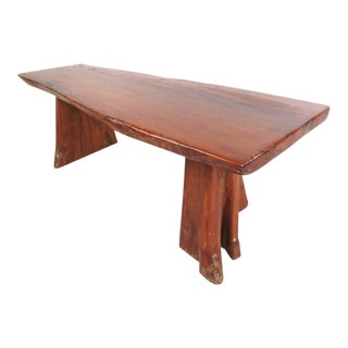 Live Edge Tree Slab Coffee Table or Bench For Sale