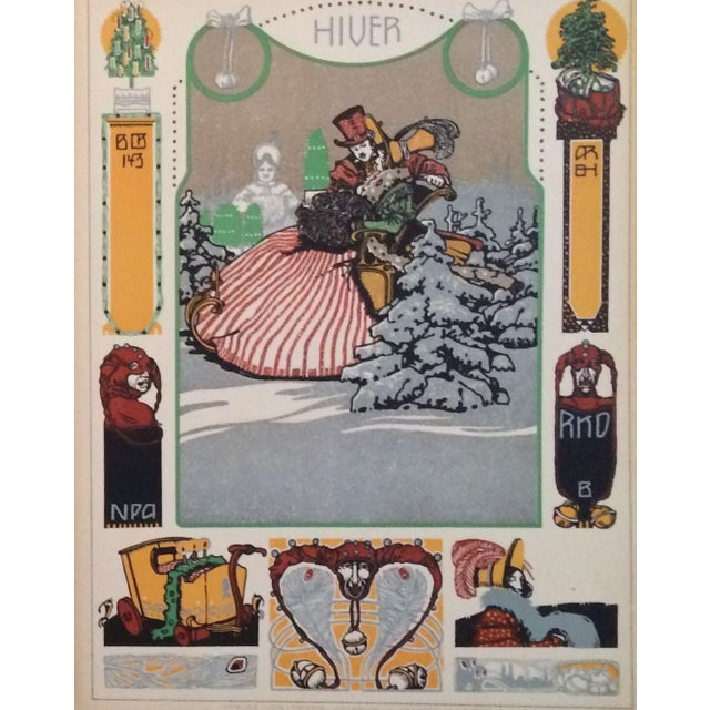 Traditional German Decorator Prints C1900 - Fall/Winter S/2 For Sale - Image 3 of 4
