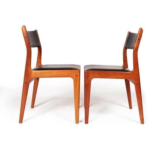 Johannes Andersen Uldum Møbelfabrik Danish Teak Dining Chairs — Set of Four For Sale - Image 11 of 12