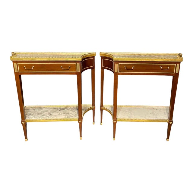 Russian Neoclassical Console Tables, Sofa Tables or Bedside Stands - a Pair For Sale