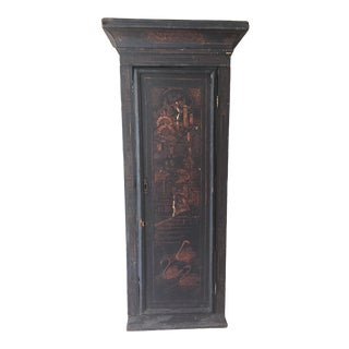 Late 18th Century Antique English Painted Wall Cabinet For Sale